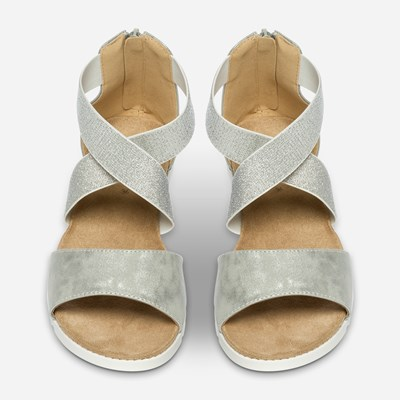 Linear Sandal - Metall 310974 feetfirst.no