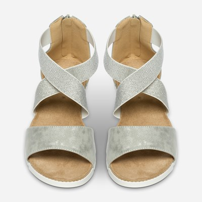 Linear Sandal - Metall 310986 feetfirst.no