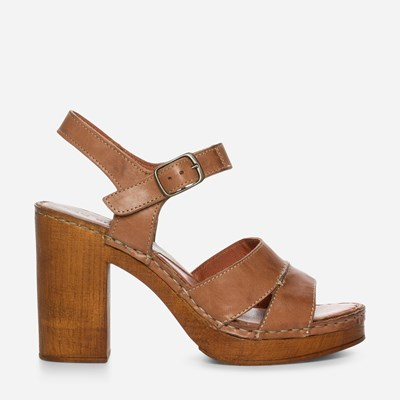 Ten Points Nora Ankle Strap - Brun 305984 feetfirst.no