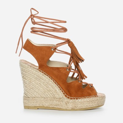 Vidorreta Andrea High Lace Wedge - Brun 306893 feetfirst.no