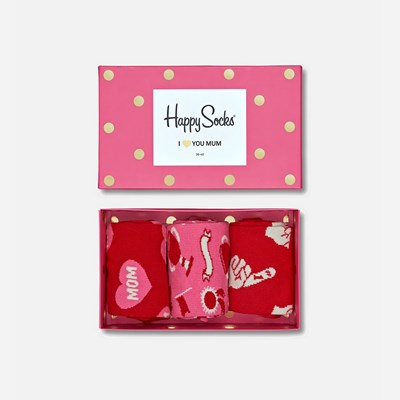 Happy Socks Gift Box 36-40 - Rosa 309551 feetfirst.no