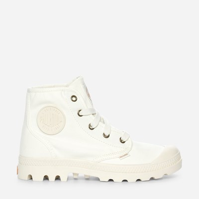 Palladium Pampa Hi Ladies - Hvit 310221 feetfirst.no