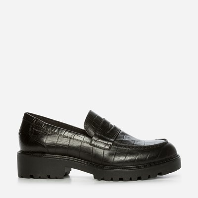 Vagabond Kenova Loafer Croco - Sort 318130 feetfirst.no