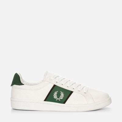 Fred Perry B721 Canvas - Hvit,Hvit 322513 feetfirst.no