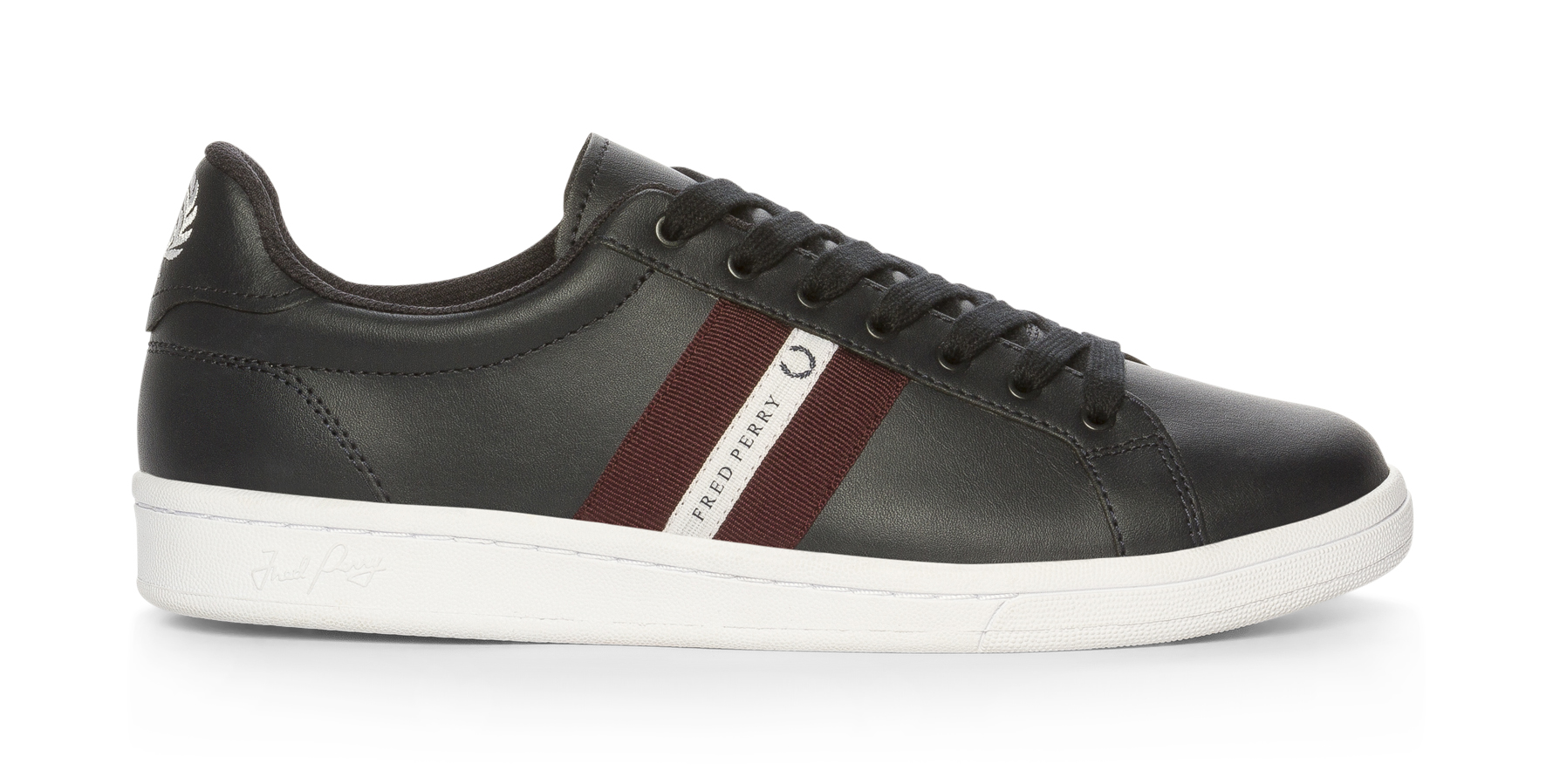 7d6be3c4c295 Fred Perry B721 Leather Tape Hvit
