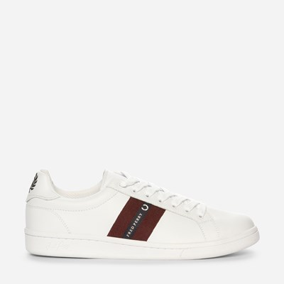 Fred Perry B721 Leather/Tape - Hvit,Hvit 322516 feetfirst.no