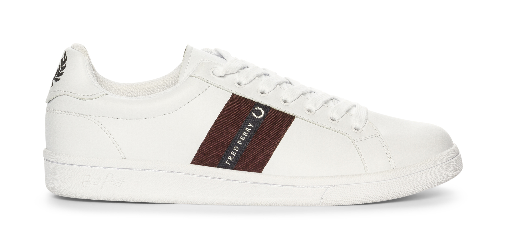 79bb36419c61 Fred Perry B721 Leather Tape - Hvit