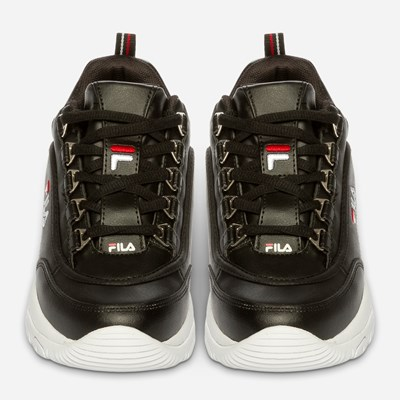 Fila Strada Low Wmn - Sort,Sort 322602 feetfirst.no