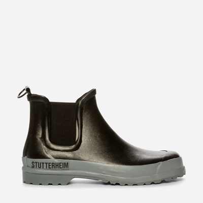 Stutterheim Rainwalker Grey - Sort,Sort 324822 feetfirst.no