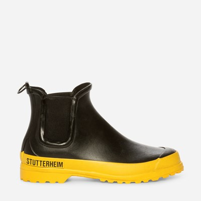 Stutterheim Rainwalker Yellow - Sort,Sort 324823 feetfirst.no