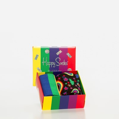 Happy Socks Gift Box 36-40 Pride Edition - Flerfarget,Flerfarget 326395 feetfirst.no