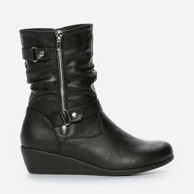 Zoey Varmfôret Boots - Sort 300776 feetfirst.no