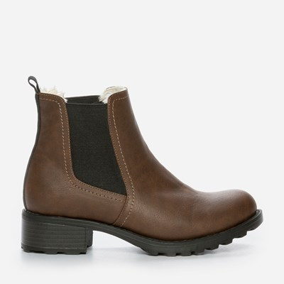 Alley Varmfôret Boots - Brun 301175 feetfirst.no