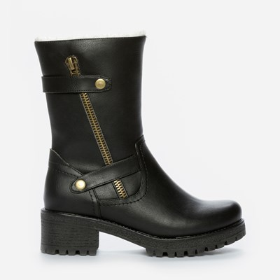 Alley Varmfôret Boots - Sort 301180 feetfirst.no