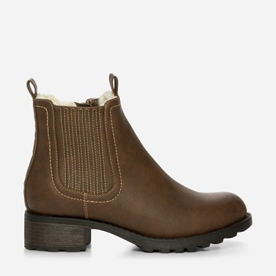 Alley Varmfôret Boots - Brun 318281 feetfirst.no