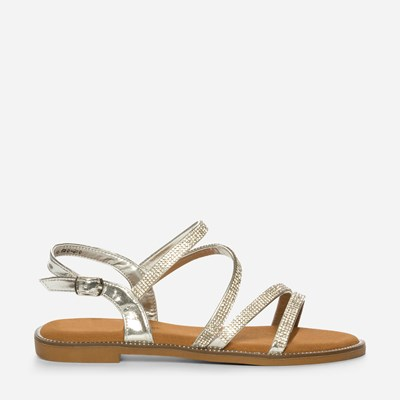 Claudia Ghizzani Sandal - Metall,Metall 320978 feetfirst.no