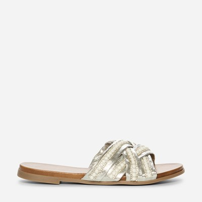 Claudia Ghizzani Sandal - Metall,Metall 326289 feetfirst.no